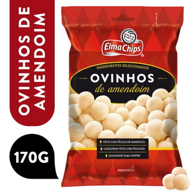 Oferta de Ovinhos de Amendoim Elma Chips 170G por R$6,75