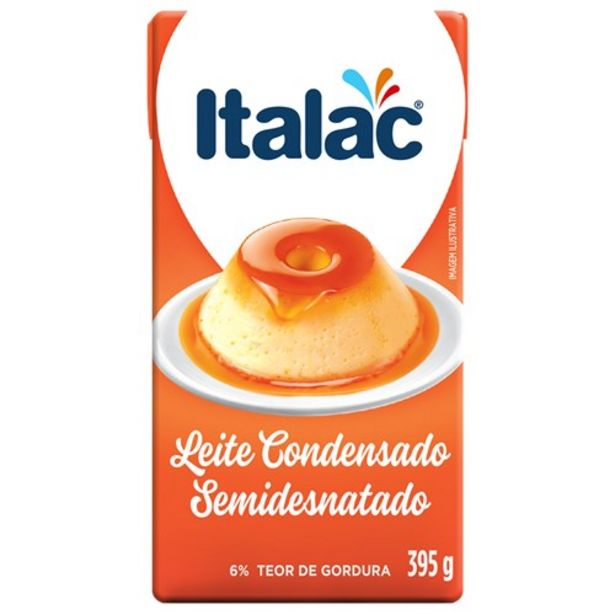 Oferta de Leite Condensado Italac Semidesnatado 395G por R$4,69