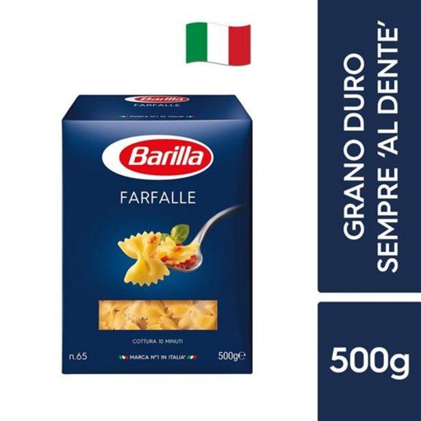 Oferta de Macarrão Barilla Farfalle N65 500G por R$8,99