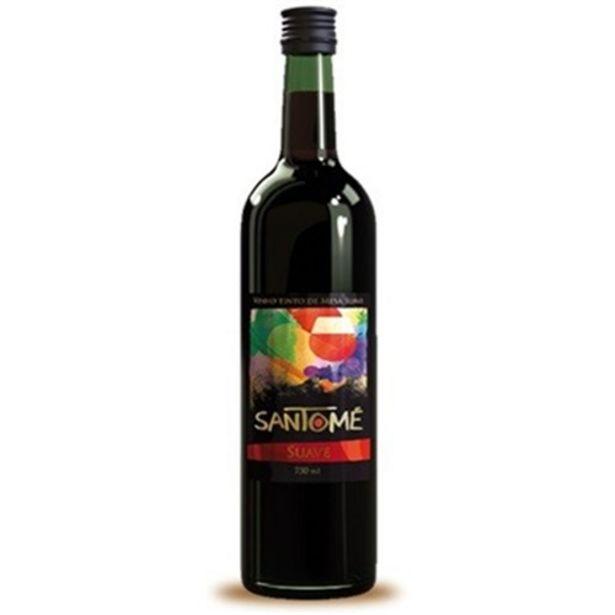 Oferta de Vinho Nacional Santome Tinto Suave Garrafa 750Ml por R$8,9