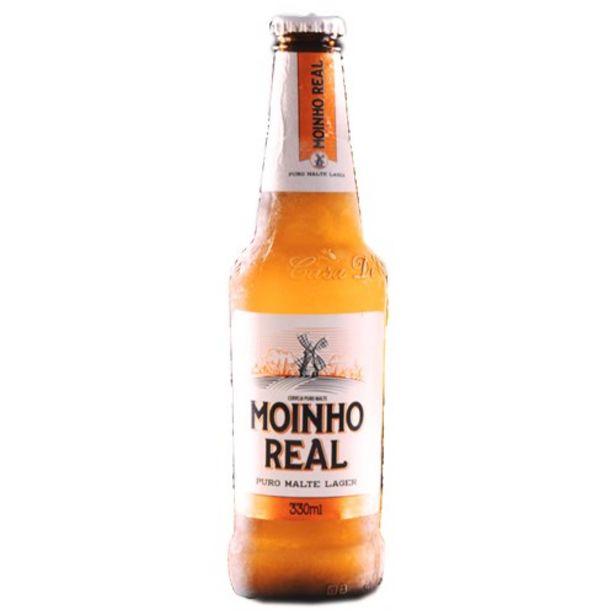 Oferta de Cerveja Lager Moinho Real Lnck Puro Malte 330Ml por R$3,29