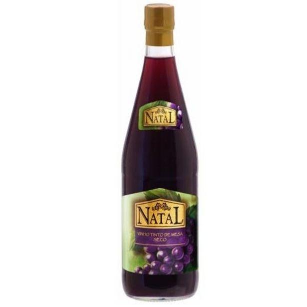 Oferta de Vinho Tinto Natal Seco Garrafa 750Ml por R$8,9