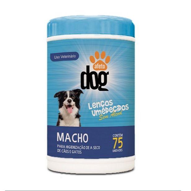 Oferta de Lenco Umedecido Afeto Dog Macho 75un por R$19,98