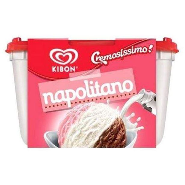 Oferta de Sorvete Kibon Cremosissimo Napolitano 1,5l por R$24,99