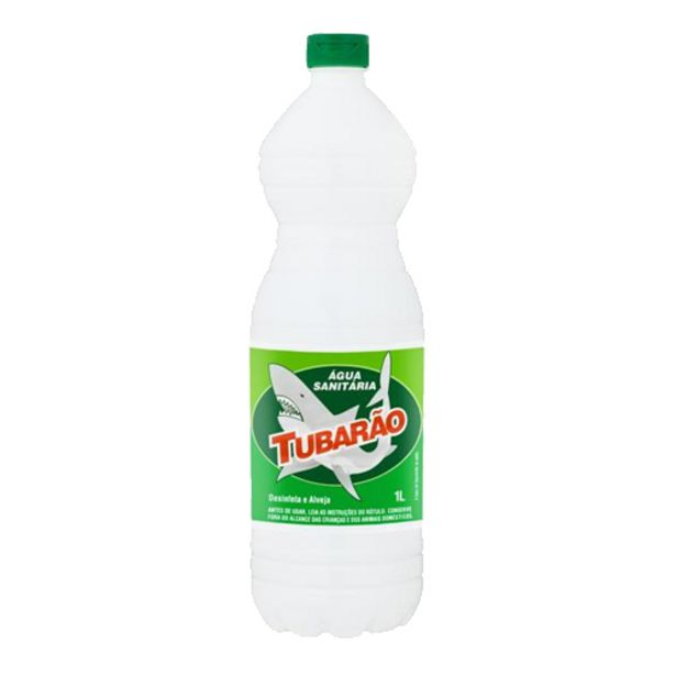 Oferta de Água Sánitaria Tubarão 1l por R$2,45