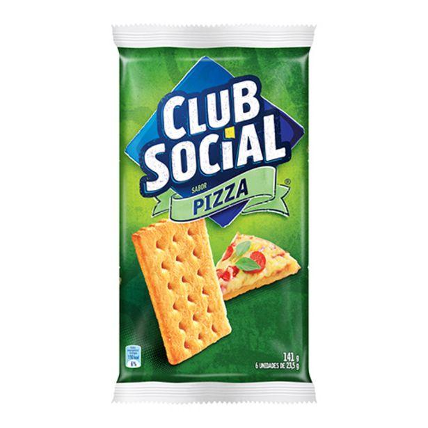 Oferta de Biscoito Club Social Pizza 141g por R$3,79