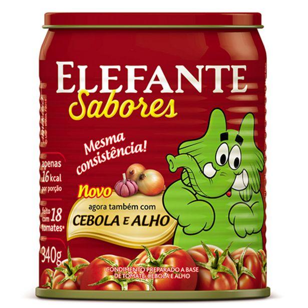 Oferta de Extrato Tomate Elefante Cebola/alho 340g por R$5,77