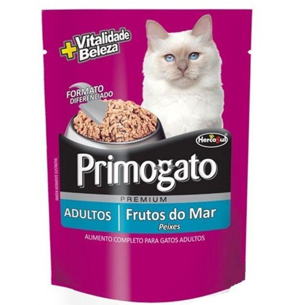 Oferta de Alimento Gato Primogato Adapt Plus Adulto Frutos Do Sa 85g por R$2,99