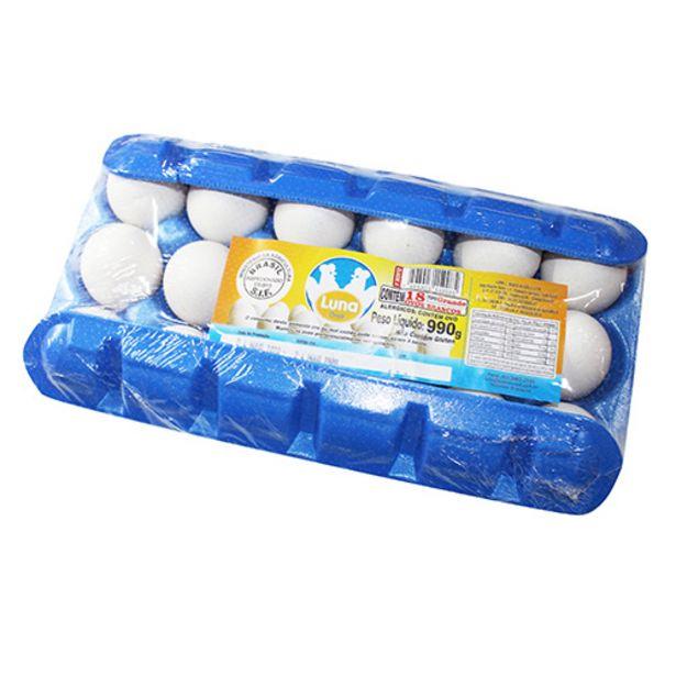 Oferta de Ovos Luna Grande Brancos 18 Ovos por R$9,35