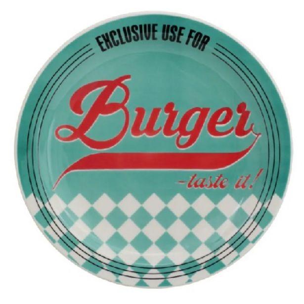 Oferta de Prato Oxford Daily Raso Burger Blue 26cm J609-6780 por R$19,98