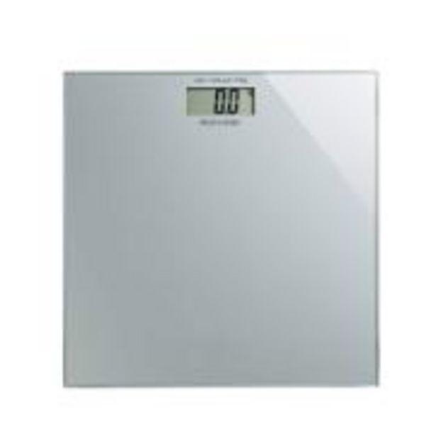Oferta de Balança Digital Multilaser Digi-Health Quadrada Prata - HC021 por R$69,9