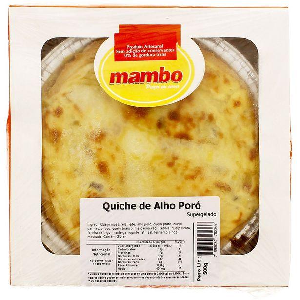 Oferta de Quiche de Alho Poró Mambo 500g por R$49,95