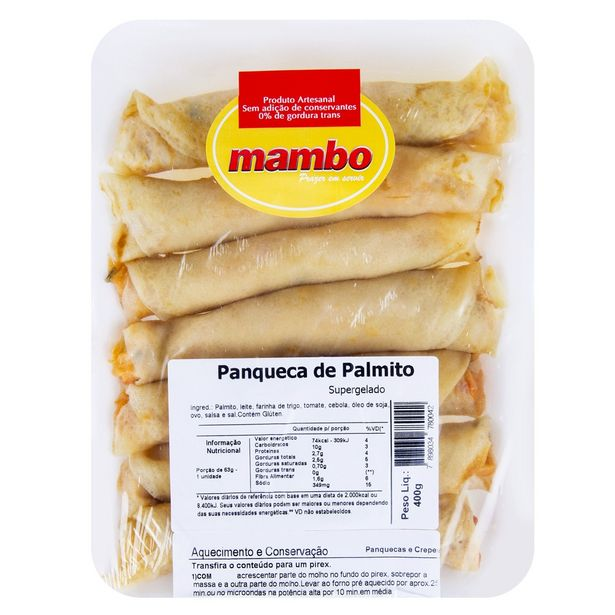 Oferta de Panqueca de Palmito Mambo 400g por R$48,39