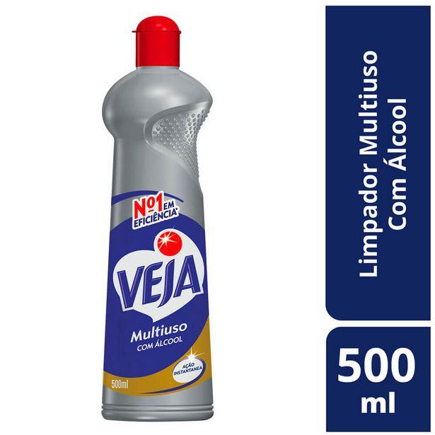 Oferta de Limpador Multiuso com Álcool Veja 500ml por R$4,99