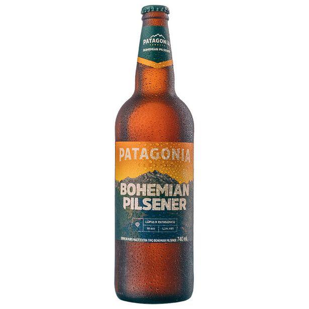 Oferta de Cerveja Argentina Bohemiam Pilsener Patagonia Garrafa 740ml por R$12,99