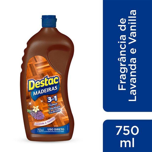 Oferta de Limpa Pisos de Madeiras Lavanda e Vanilla Destac 750ml por R$13,29