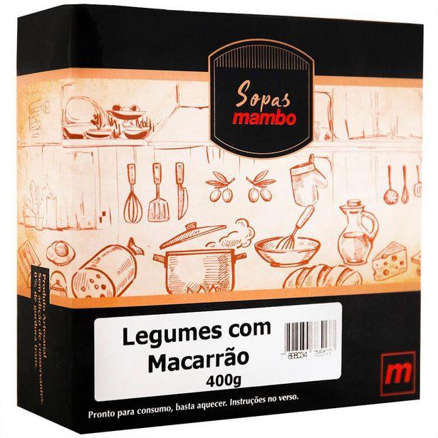 Oferta de Sopa de Legumes e Macarrão Mambo 400g por R$26,9