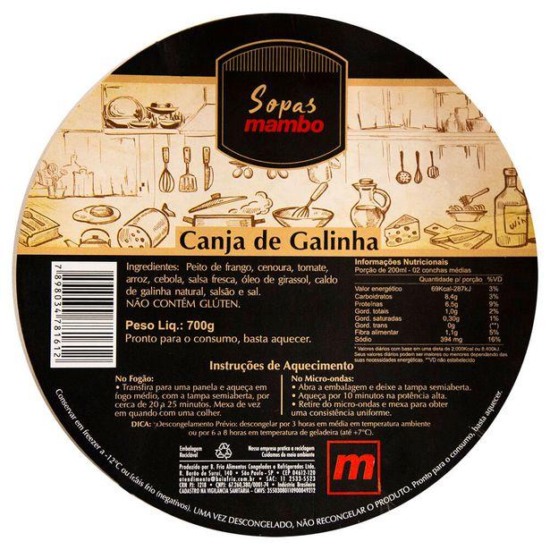 Oferta de Canja de Galinha Mambo 700g por R$39,95