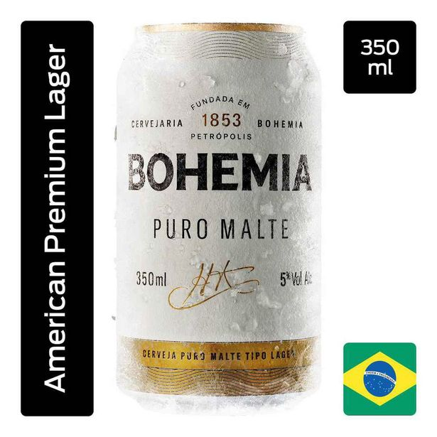 Oferta de Cerveja Bohemia Lata 350ml por R$3,09