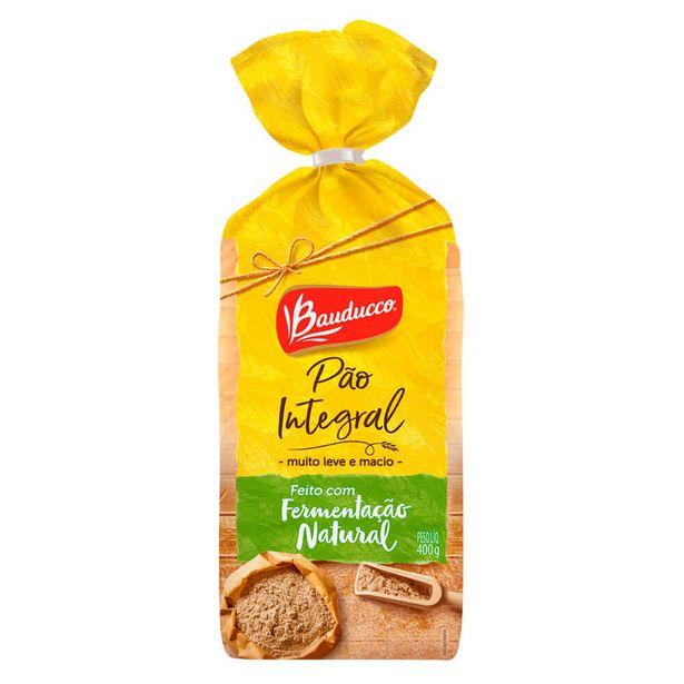 Oferta de Pão de Forma Integral Fermentação Natural Bauducco 400g por R$7,55