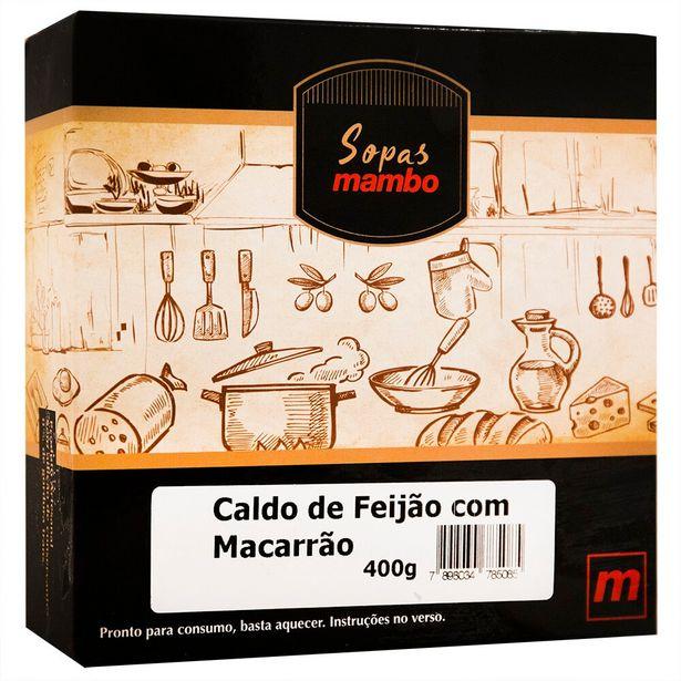 Oferta de Sopa de Caldo de Feijão com Macarrão Mambo 400g por R$26,9