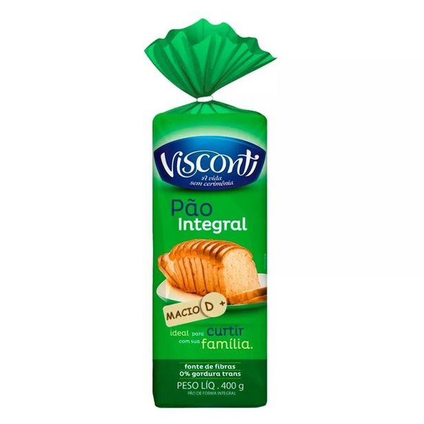 Oferta de Pão de Forma Integral Visconti 400g por R$6,8
