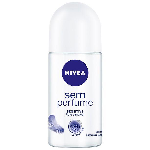 Oferta de Desodorante Roll On Sem Perfume Nivea 50ml por R$8,89