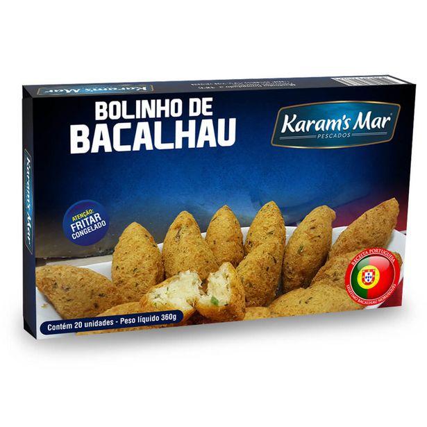 Oferta de Bolinho de Bacalhau Congelado Karam's 360g por R$22,5