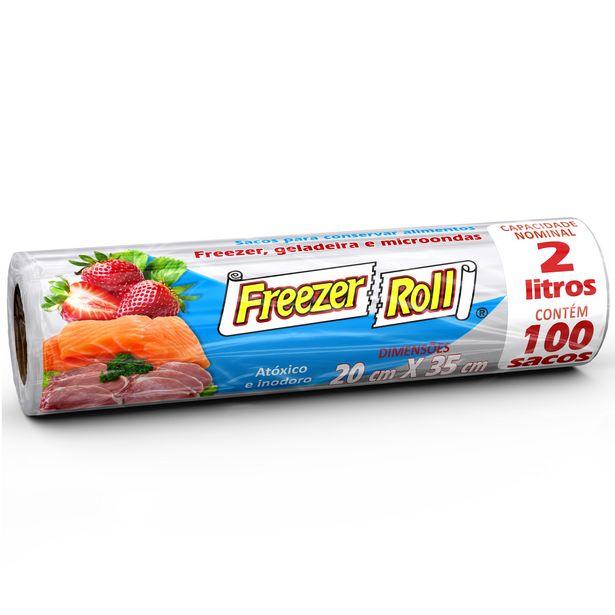 Oferta de Saco para Freezer 2 Litros Dover Roll com 100 Unidades por R$18,49