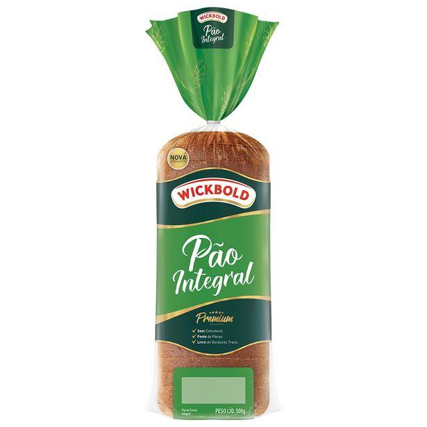 Oferta de Pão de Forma Integral Wickbold 500g por R$7,8
