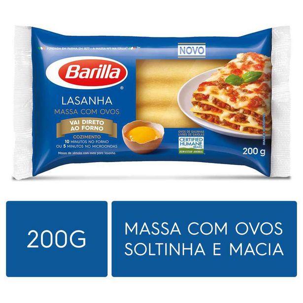 Oferta de Massa para Lasanha com Ovos Barilla 200g por R$4,89