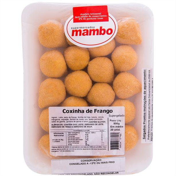 Oferta de Coxinha de Frango Mambo 500g por R$38,49
