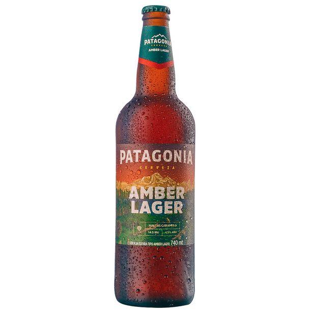 Oferta de Cerveja Argentina Amber Lager Patagonia Garrafa 740ml por R$12,99