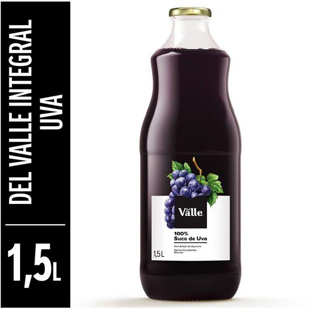 Oferta de Suco de Uva Integral Del Valle 1,5 Litros por R$16,49