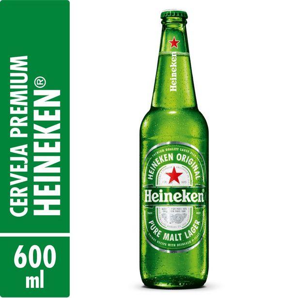 Oferta de Cerveja Heineken Garrafa 600ml por R$9,9