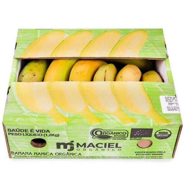 Oferta de Banana Nanica Orgânica 1,2kg por R$8,19