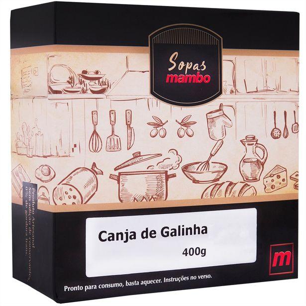 Oferta de Sopa Canja de Galinha Mambo 400g por R$25,9