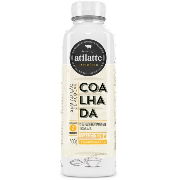 Oferta de Coalhada Semidesnatada sem Açúcar Ati Latte 500g por R$8,99