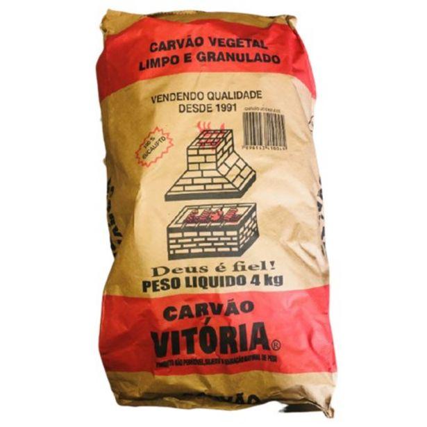 Oferta de Carvão Vitória 4 Kg por R$16,5