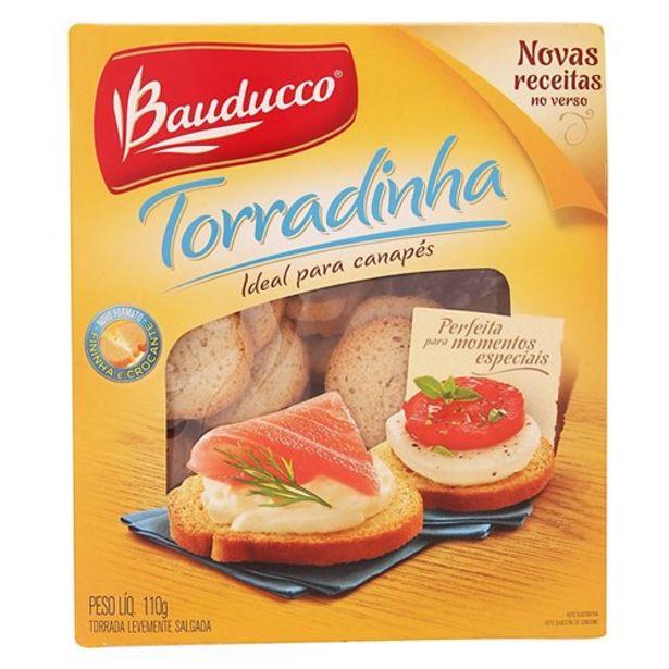 Oferta de Torradinha Tradicional Bauducco Canapes Pacote 110G por R$4,19