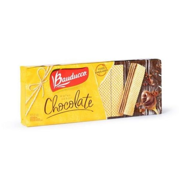 Oferta de Biscoito Wafer Chocolate Bauducco 140G por R$1,99
