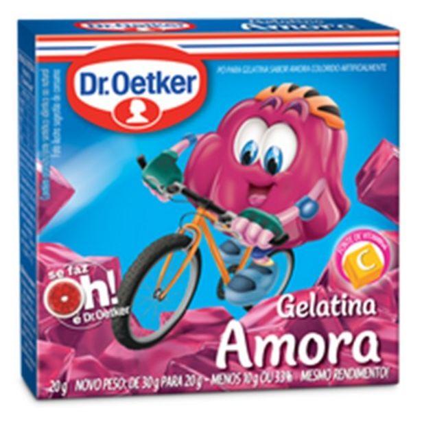 Oferta de Gelatina de Amora Dr Oetker Embalagem 20G por R$1,39