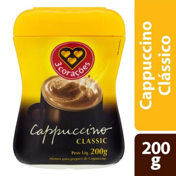 Oferta de Capuccino 3 Corações Classic 200G por R$10,99