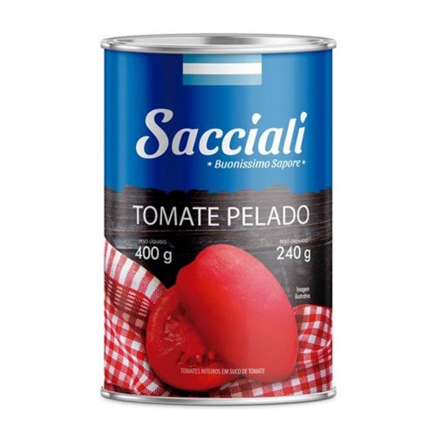Oferta de Tomate Pelado Sacciali 240G. por R$4,79