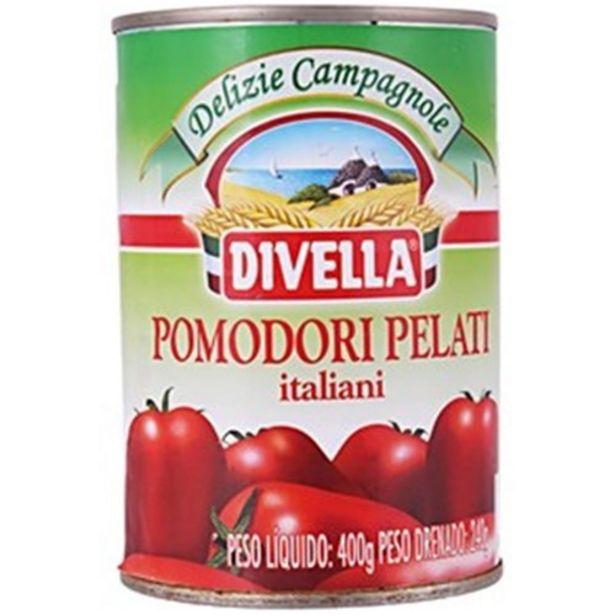 Oferta de Tomate Pelado Divella Lata 400G por R$8,99
