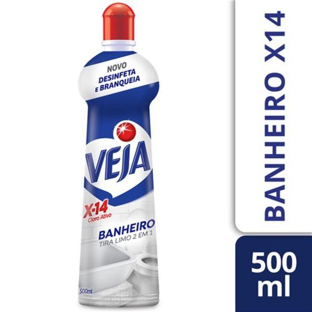 Oferta de Limpador Veja Banheiro Cloro Ativo X14 Squeeze 500Ml por R$13,69