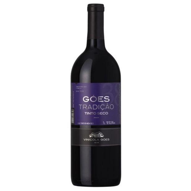 Oferta de Vinho Tinto Góes Tradição Seco Garrafa 1L por R$16,49