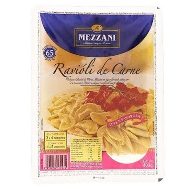 Oferta de Ravioli Mezzani Carne Embalagem 400G por R$9,98