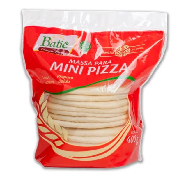 Oferta de Massa para Mini Pizza Batie Embalagem 400G por R$8,19