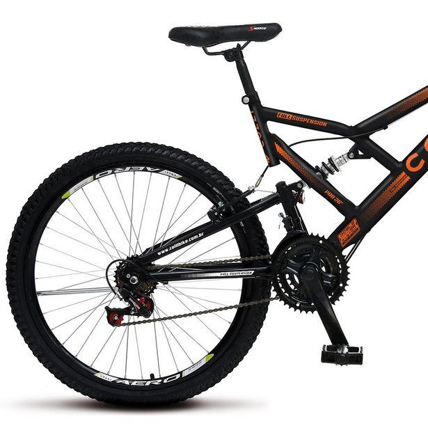 Oferta de Bicicleta Colli Full GPS 21 Marchas Aro 26 - Preto/Laranja por R$899
